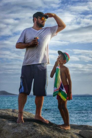 Brad Francis gathers his bearings, Badu Island, 2014