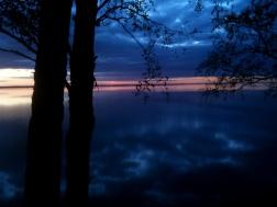 """Sunset over Lake Võrtsjärv - Estonia, """"The Worm Hunters"""", 2011"""