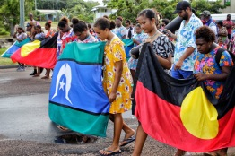 """Mabo Day March, Thursday island. """"Carry the Flag"""" 2016"""