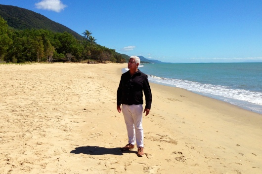 "Richard Bell on Ellis Beach, Far North Queensland. ""Colour Theory"" 2013"