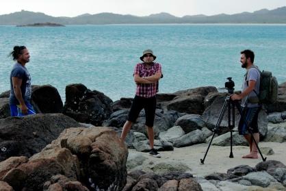 Laurie Nona, Douglas Watkin & Brad Francis, Badu Island, 2014.